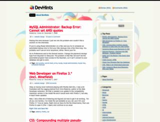 devhints.wordpress.com screenshot