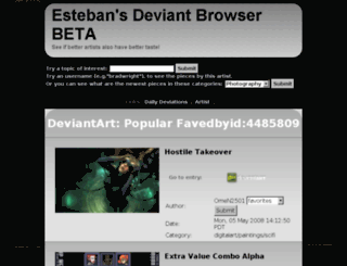 deviant-catalyst.appspot.com screenshot