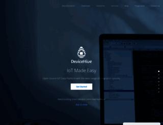 devicehive.com screenshot