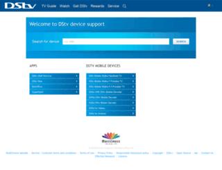 devicesupport.dstvmobile.com screenshot