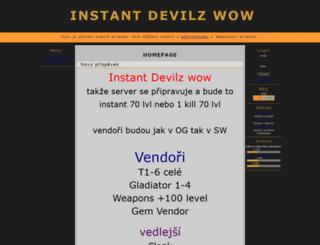 devilzwow.7x.cz screenshot