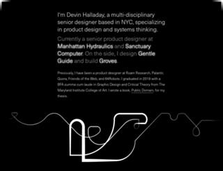 devinhalladay.com screenshot