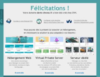 devis-chrono.fr screenshot