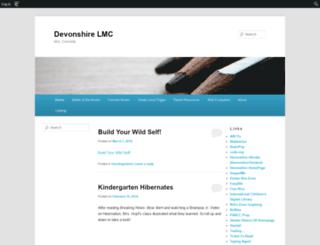 devonshirelmc.edublogs.org screenshot