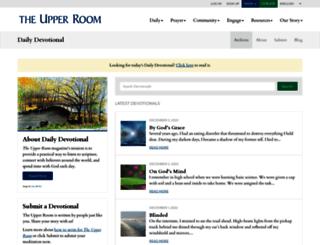 devotional.upperroom.org screenshot