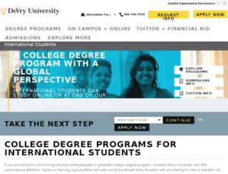devry.futurestudents.com screenshot