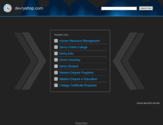 devryshop.com screenshot