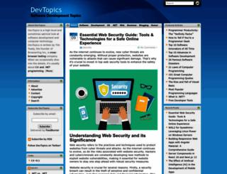 devtopics.com screenshot