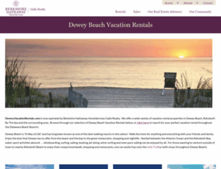 deweyvacationrentals.com screenshot