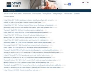 dewinforex.com screenshot