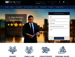 dewittlaw.com screenshot