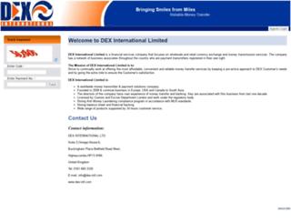 dex-intl.com screenshot