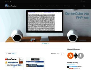 dezender.net screenshot