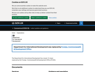 dfid.gov.uk screenshot