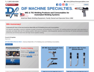 dfmachinespecialties.com screenshot