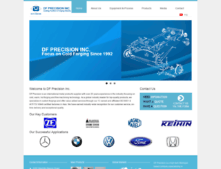 dfprecision.com screenshot