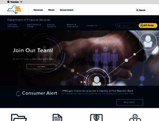 dfs.ny.gov screenshot