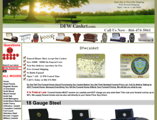 dfwcasket.com screenshot