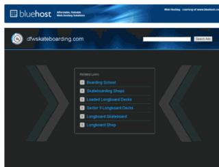 dfwskateboarding.com screenshot
