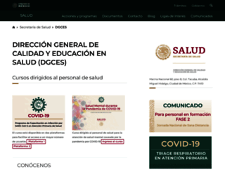 dgces.salud.gob.mx screenshot