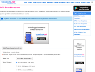 dgs-puan.hesaplama.net screenshot
