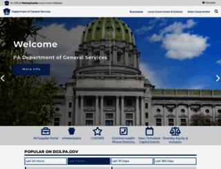 dgs.pa.gov screenshot