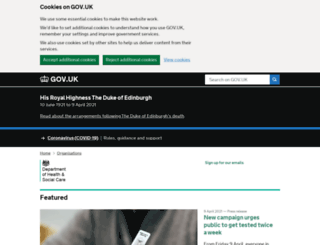 dh.gov.uk screenshot