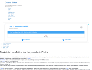dhakatutor.com screenshot