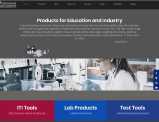 dhanbadinstruments.com screenshot