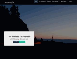 dhaneshnair.com screenshot
