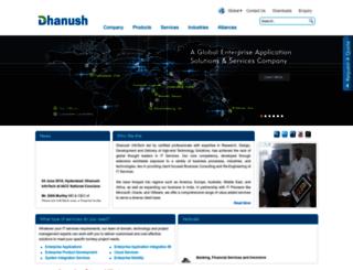 dhanushinfotech.com screenshot