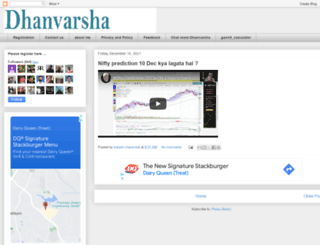 dhanvarsha.in screenshot