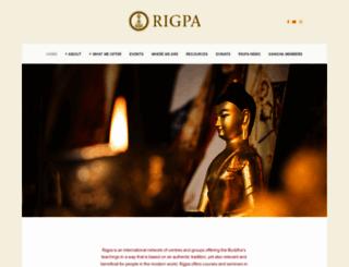 dharmakoshaenglish.rigpa.org screenshot