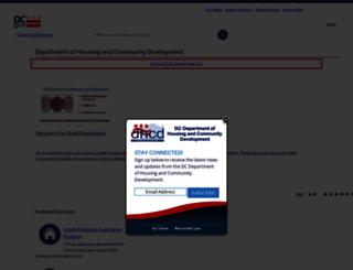 dhcd.dc.gov screenshot