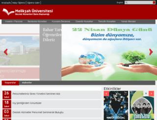 dhdb.meliksah.edu.tr screenshot