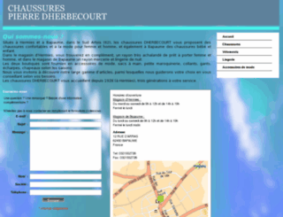 dherbecourtchaussures.fr screenshot