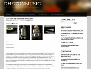 dhetonmusic.wordpress.com screenshot