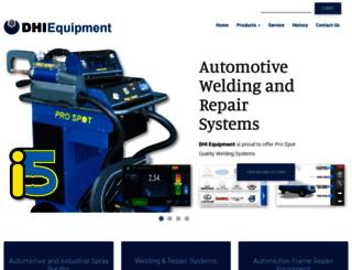 dhiequipment.com screenshot