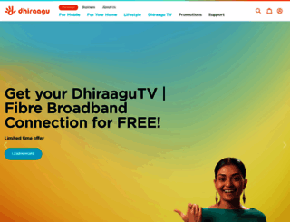 dhiraagu.com.mv screenshot