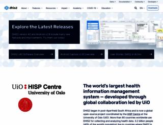 dhis2.org screenshot