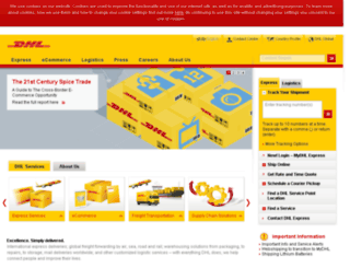 dhl.com.jo screenshot