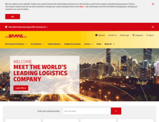 dhl.com.sg screenshot