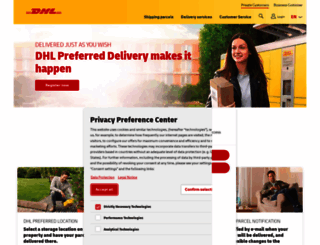 dhl.de screenshot