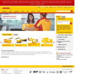 dhl.si screenshot