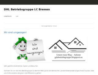 dhlbetriebsgruppe.blogsport.eu screenshot