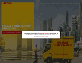 dhlindia-kyc.com screenshot