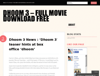 dhoom3download.wordpress.com screenshot