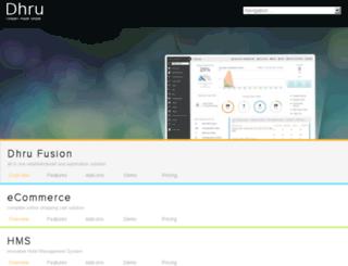 dhrusoft.com screenshot
