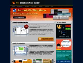dhtml-menu-builder.com screenshot
