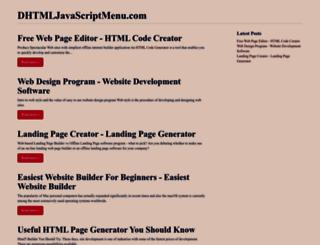 dhtmljavascriptmenu.com screenshot